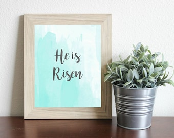 He is Risen Easter Print