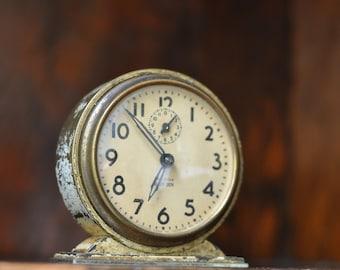 Vintage Clock, Western Clock Co. Baby Ben, Collectible, Home Decor, La Salle, Illinios, USA, Gift, Repair, Parts, Home, Office, Decor, As-is
