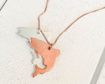 Jumping Trout Pendant Necklace