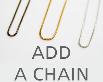 Add A Chain To Your Order