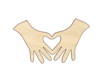 Heart Hands - Unfinished Wood - 160433