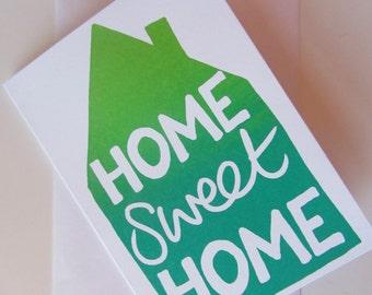 Home Sweet Home Greetings Card - Screen Printed