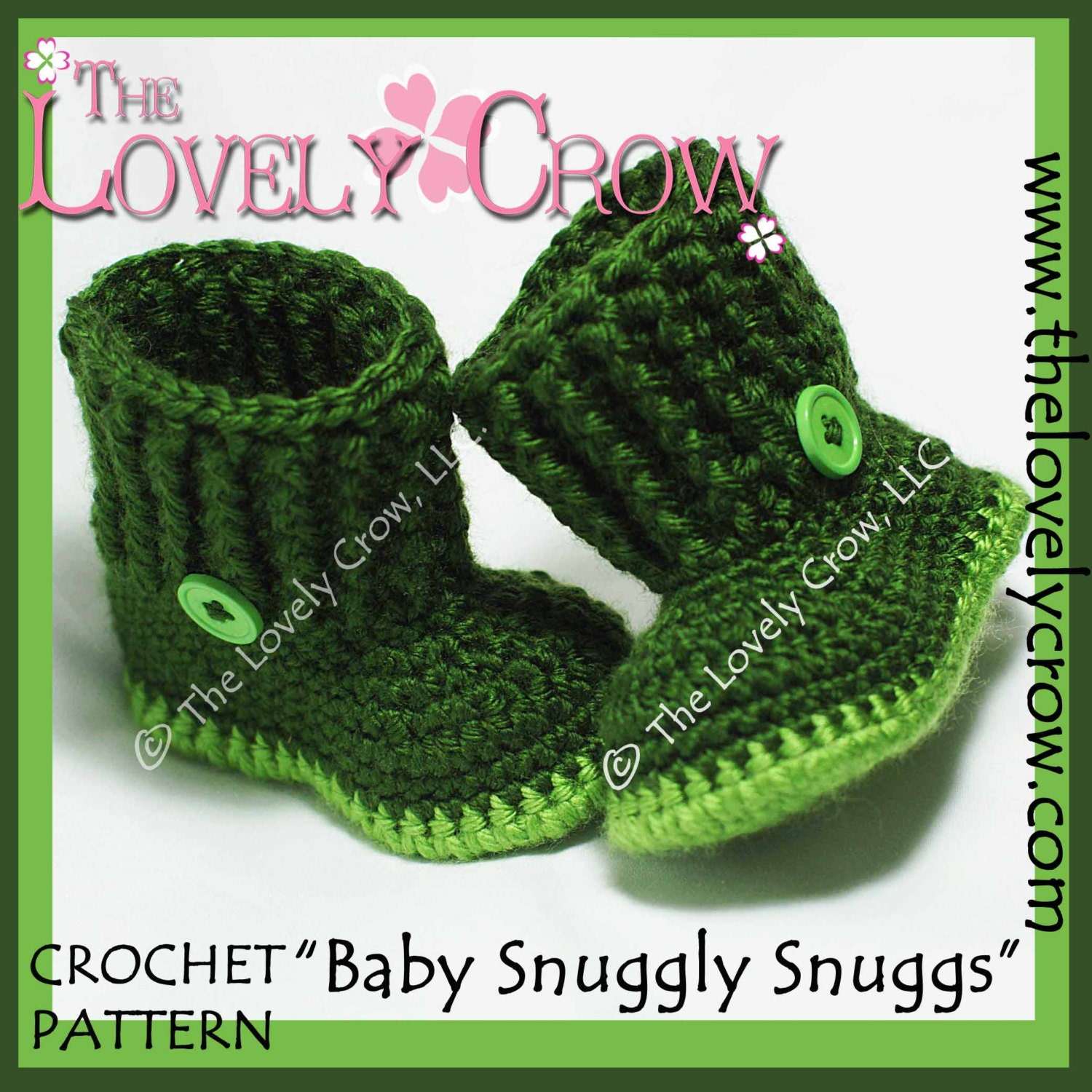 Baby Boots Crochet Pattern BABY SNUGGLY SNUGGS digital