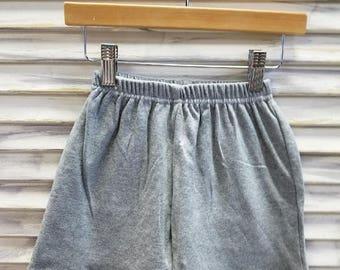 Boys Grey Knit Shorts/Loungewear/Summer/Spring/Monogrammed shorts/Back to School
