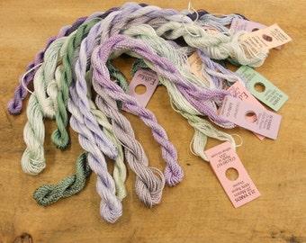 Lavender and Sage Thread Pack of 10 skeins of Edmar Thread.
