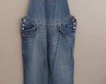 vintage 90s grunge distressed Bib Denim overalls M-L