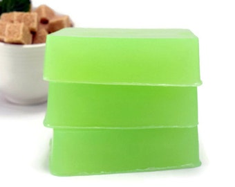 Raw Sugar and Mint Soap, Trending Item, Peppermint Glycerin Bar Soap
