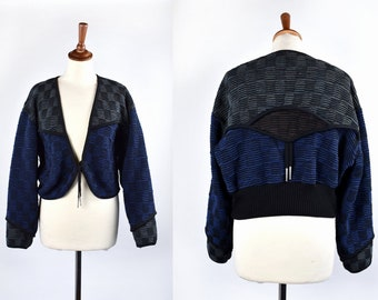 Cropped Boutique Sweater Cardigan, Awesome Texture!