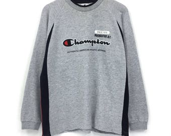 Champion Life! Rare! Vintage CHAMPIONPRODUCTS USA embroidery hoodie big logo sweater multicolour large size r3ImNa0