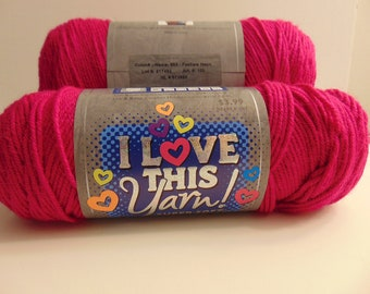Fuchsia Neon -  I Love This Yarn worsted weight 100% acrylic - 3008