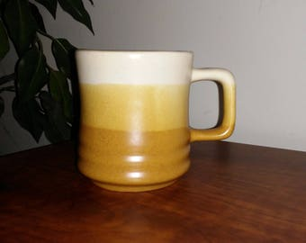 Two Tone Brown and Cream Colored Mug/Cup