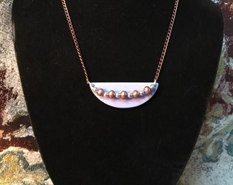 Three colors—-Lucite embellished chain necklace - your choice---free shipping