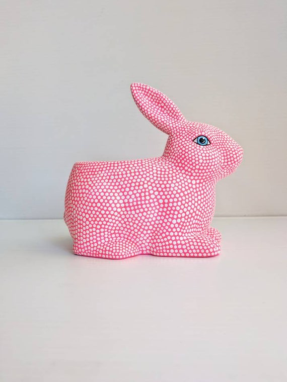 Bunny planter ceramic bunny pot pink bunny