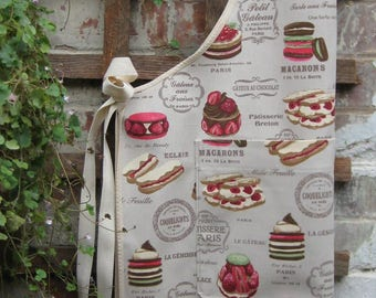 Apron Patisserie adult size with pocket. Cloth or PVC (no pocket)coated.