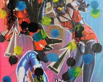 Fetish 4 collage & mix media by Eric Lafoy