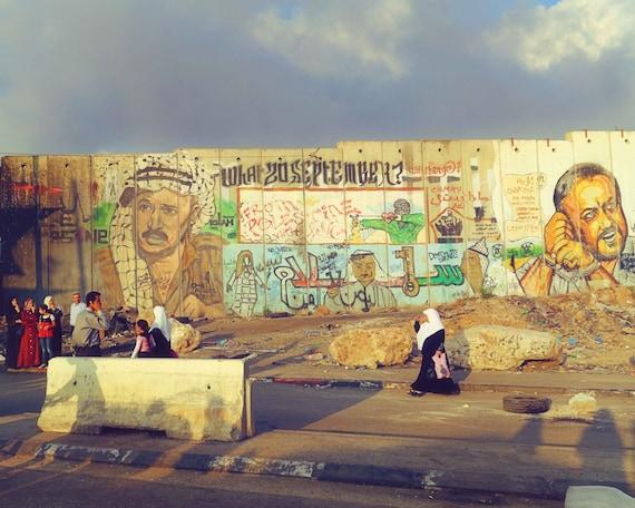Palestine Photography Large Wall Art Print Qalandiya