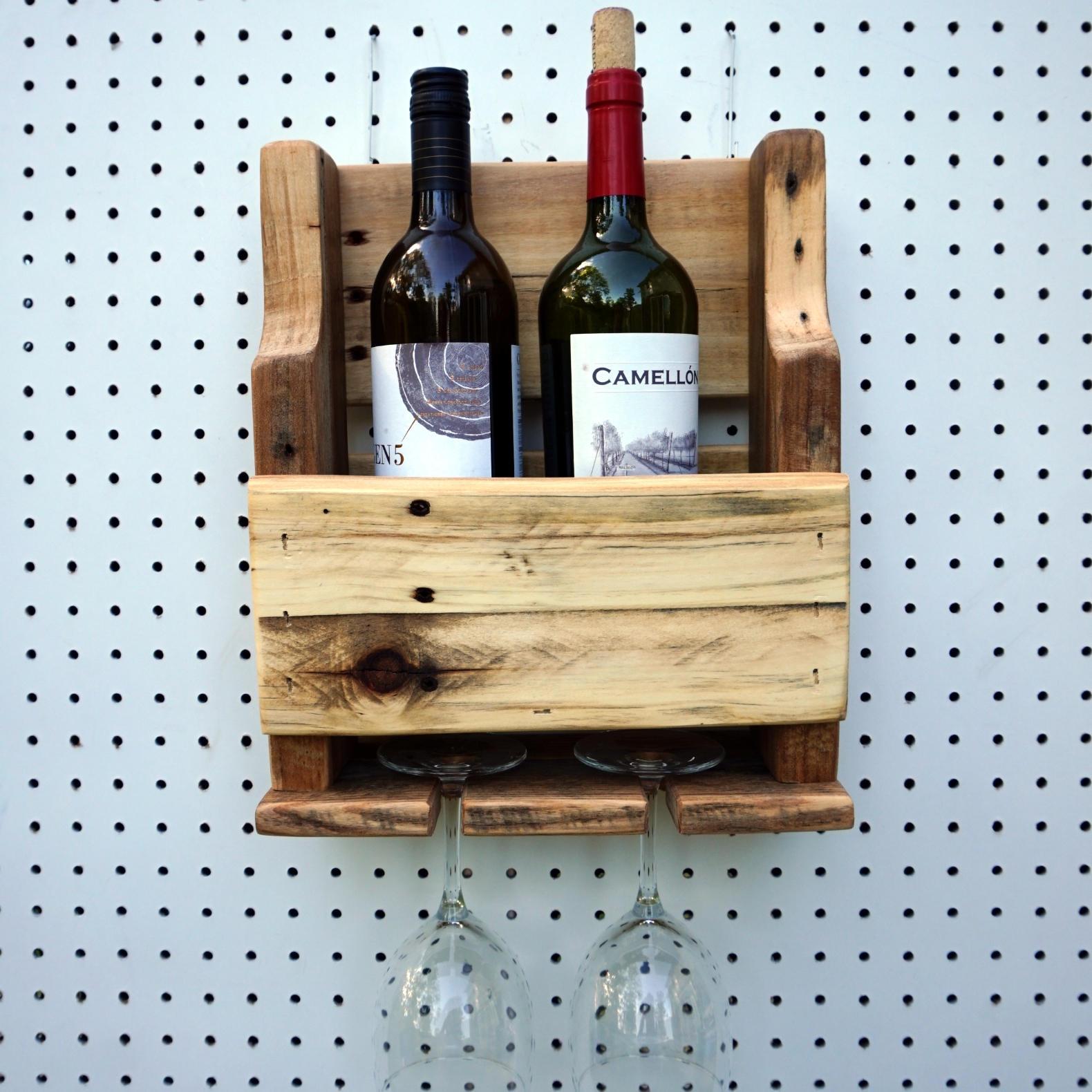 Rustic Wine Rack Natural Color Wood Wine Rack Wall Wine