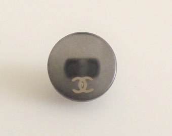 Chanel CC Gray Button 12mm