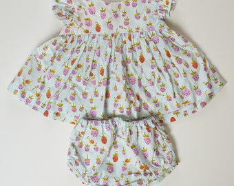 18-24 month Strawberry Print Day Top and Ruffled Diaper Cover
