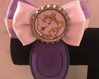 Mrs. Potts and Chip Magic Band Bow