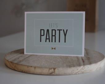 Feestelijke Verjaardagskaart Ansichtkaart Postcard Celebration / A6 Card / Party Time