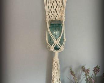 Macrame Wall Hanging/Plant or Jar Hanger