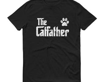 Cat Dad | Cat Lover Gift for Cat Dad - Men's The Catfather cat shirt for cat dad man - best cat dad | Cat lover gift