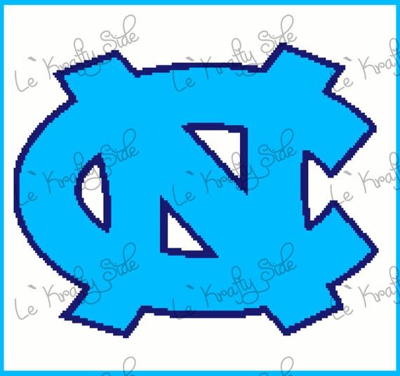 Instant Download Nc Tar Heels Logo Crochet Graph Chart From