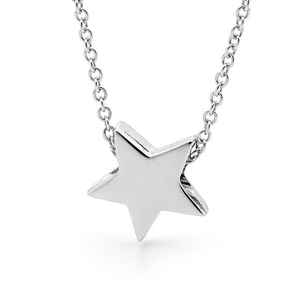 Star necklace in sterling silver small silver star pendant zoom mozeypictures Image collections