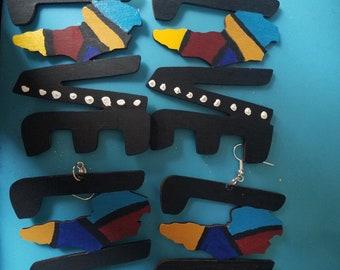 Custom love earrings