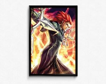 Kingdom Hearts 2 Axel Poster Print Wall Art Home Decor Organization 13 XIII Fanart JRPG Square Enix Square-Enix Gamer Gift