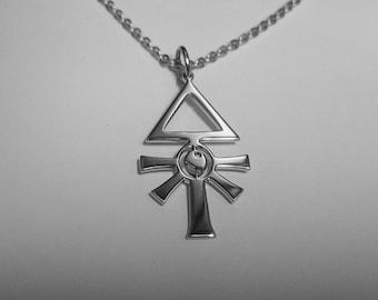 Eldar Rune Pendant Eldar Rune Necklace Stainless Steel Warhammer Pendant Warhammer Necklace Eldar Rune Symbol Eldar Rune Sign Eldar Logo