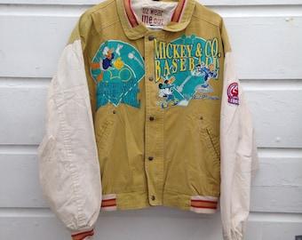 Vintage Mickey Baseball Jacket