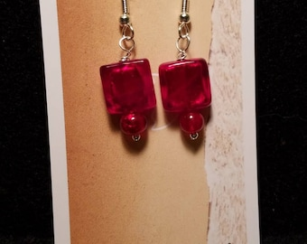 Venetian glass beaded earrings