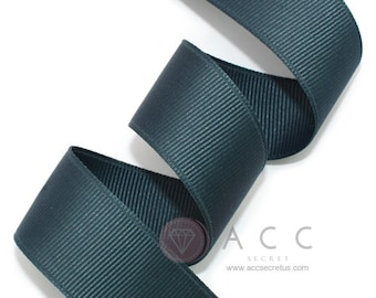 5Yards Navy Blue Solid Grosgrain Ribbon - 5mm(2/8''), 10mm(3/8''), 15mm(5/8''), 25mm(1''), and 40mm(1 1/2'')