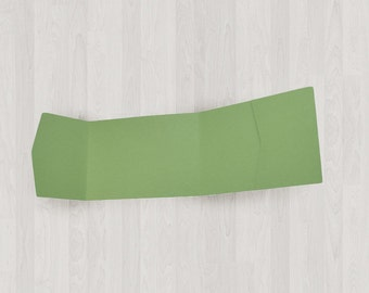 10 Panorama Pocket Enclosures - Green - DIY Invitations - Invitation Enclosures for Weddings and Other Events
