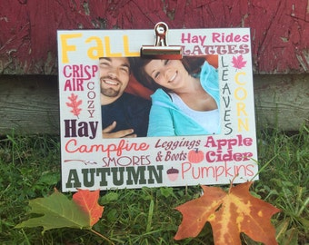 Fall Picture Frame, Fall Word Art..., Photo Frame With Clip Picture Display