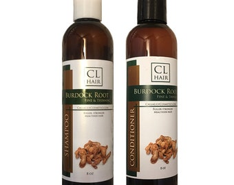 Burdock Root Herbal Shampoo, Conditioner for fine and thinning hair
