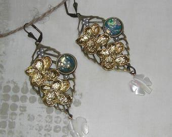 Victorian woodland earrings