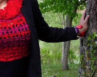 Scarlett Blossom - sexy crochet sweater - ready to ship