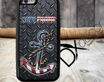 Navy Proud, Navy Mom Phone Case, Army Proud, Custom galaxy S7 cover, Samsung S6 Edge Phone Case, Samsung S7 Active