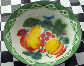 Vintage enamelware bowl