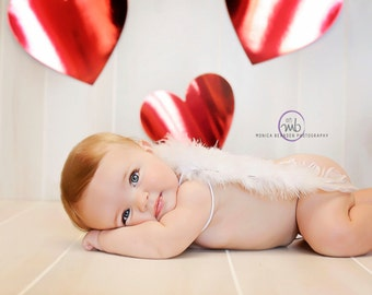 Baby Angel wings toddler baby  Wings W/ elastic straps, Photo Prop  Photography Beautiful white feather Valentines Day