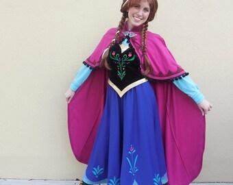 Anna Frozen Costume  sc 1 st  Etsy & Anna costume Frozen costume Frozen dress Anna dress Snow