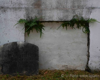 Cemetery 8, Fine Art Photography, Graveyard, Gravestone, Tombstone, Headstone, Home Decor, Gothic Wall Art