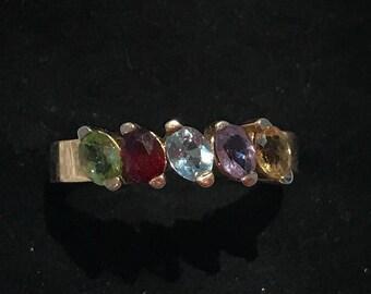 Multi stone ring 9ct