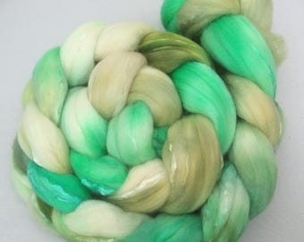 Mintish - handdyed merino/Silk-top 3.5 oz
