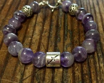 Amethyst Sagittarius bracelet