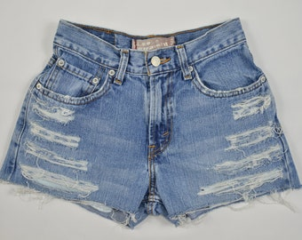 Levi's Vintage Denim Blue High Waisted Cuttoff Shorts Size 0 (26 inches)