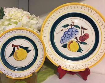 Stangl Fruit plates.